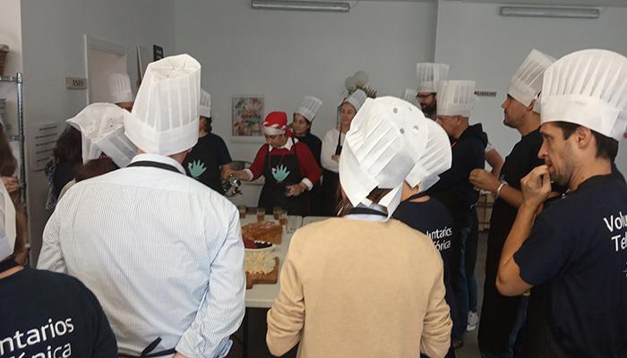clase de cocina mujeres refugiadas