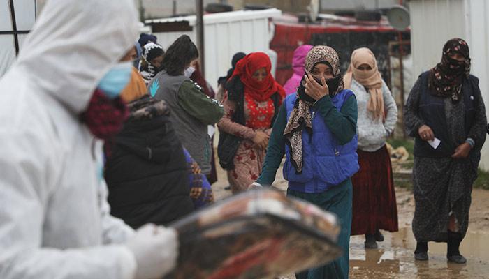 Campo de refugiados entrega de ayuda